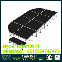outdoor concert stage lighting equipment complete with tent truss and stage platform