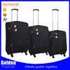 hot 2016 popular suitcase car luggage 360 degree wheels luggage lighted soft trolley luggage