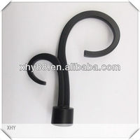Decorative metal curtain rod finials