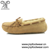 9028 Tan suede leather winter handmade moccasin for men