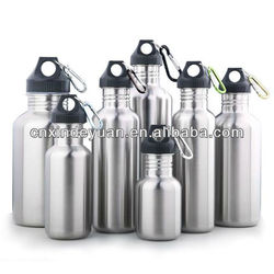 single wall stainless steel sports water bottle
