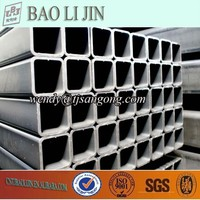 structural material low carbon steel rectangular pipe for fence post