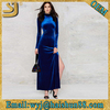 Royal blue maxi velvet sexy dress