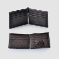 RFID Blocking genuine leather elegance wallet with money clip