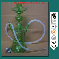 2017 green color large art electronic hookah with led light