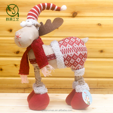 fabric christmas deer toy,beautiful christmas deer doll toy