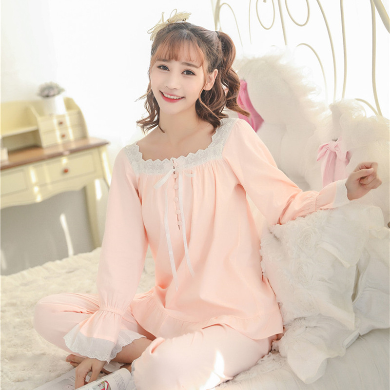 C74739A Newest long sleeve women home wear pajama sets