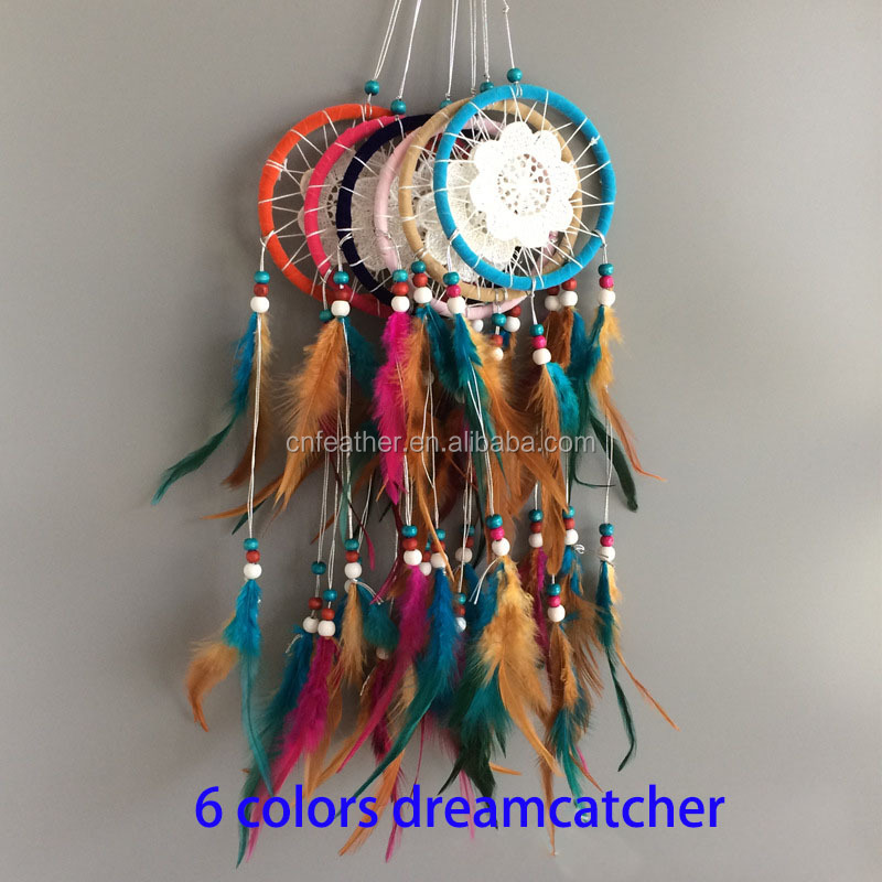 Wholesale Customized Indian feather dreamcatcher for home decoration