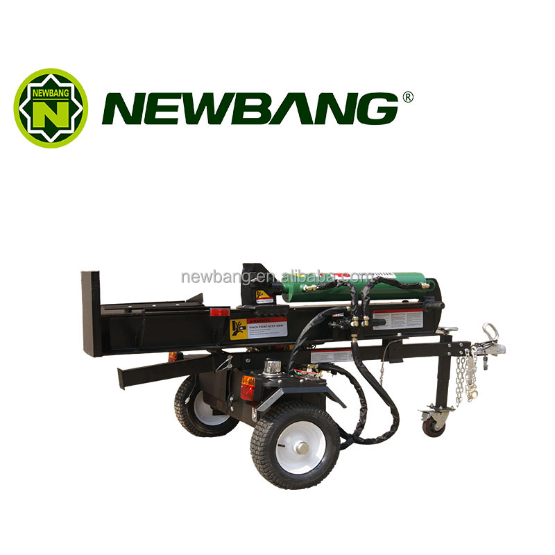 Gasoline powered log splitter with tank with oil/temprature gauge for splitting woods