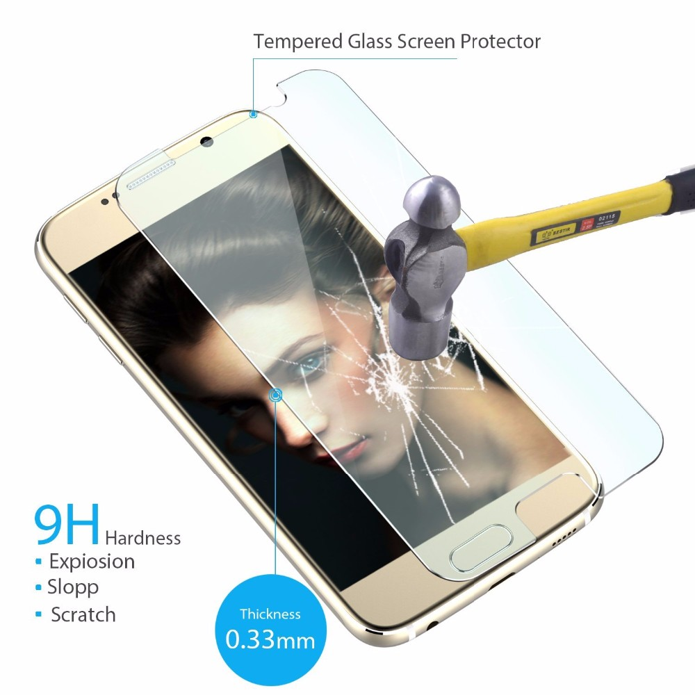 Mobile Phone Use for samsung S6 Edge Tempered Glass/mobile phone s6 glass film protector