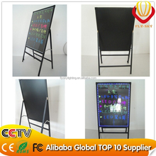 Alibaba new products 60*80cm integrated stand advertising LED writing board free standing advertising board for shops promotion