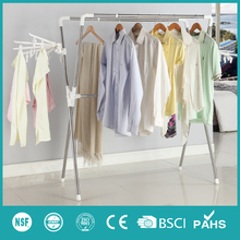 XM_107 Adjustable folding X-type outdoor cloth drying rack stainless steel garment hanger with towel clips