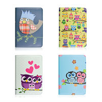Hot Selling New Style Cartoon Pattern Cute Owl Couples Rotating Standing Leather Case For Apple iPad mini