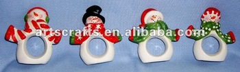 Ceramic napkin ring for Christmas decoration