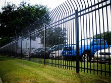 high security fence/ 2015 the best price American type 3 rails spearhead head steel picket fencing