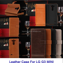 New Product Wallet Leather Flip Cover For LG G3 Mini Case With Card Slot