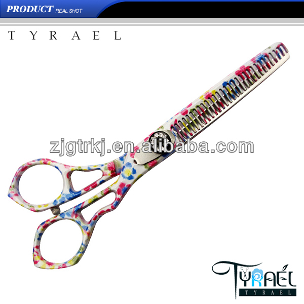 Watertransfer color printing Hair Thinning Scissors DP109T