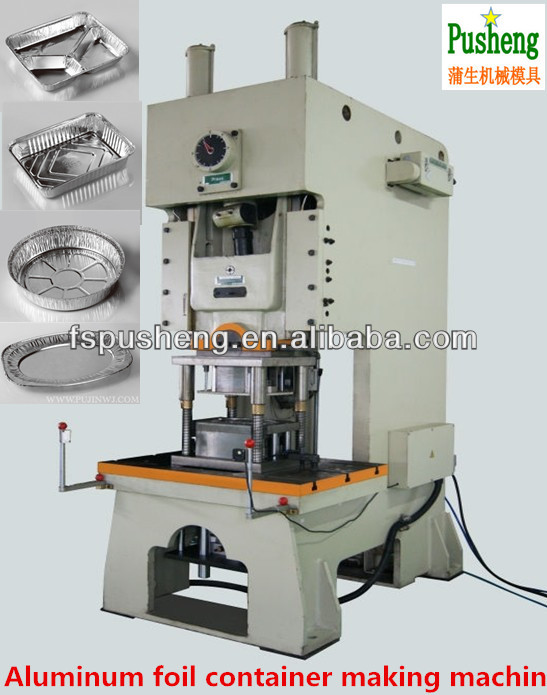 Disposable aluminum foil box making machine
