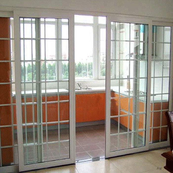 Pvc Double Glass Soundproof Chinese Doors View Chinese
