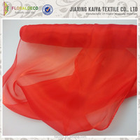 Shiny silk organza fabric made of 80% polyester and 20% nylon