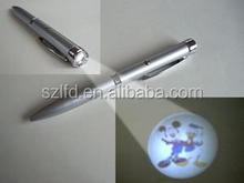 promotional gifts led projector pen,custom logo projector ballpen,led metal projector pen for 2016 promotional item
