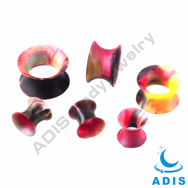 Solid silicone cheap body piercing ear plug piercing flesh tunnel body jewelry