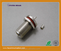 N Connector Female Bulkhead Crimp For RG316 Cable C