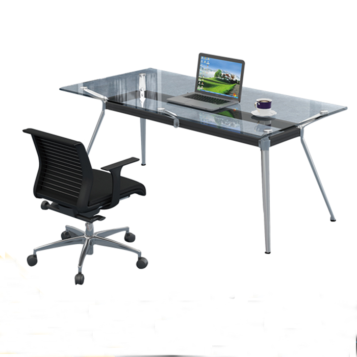 Commercial office furniture glass table top desk tempered glass table