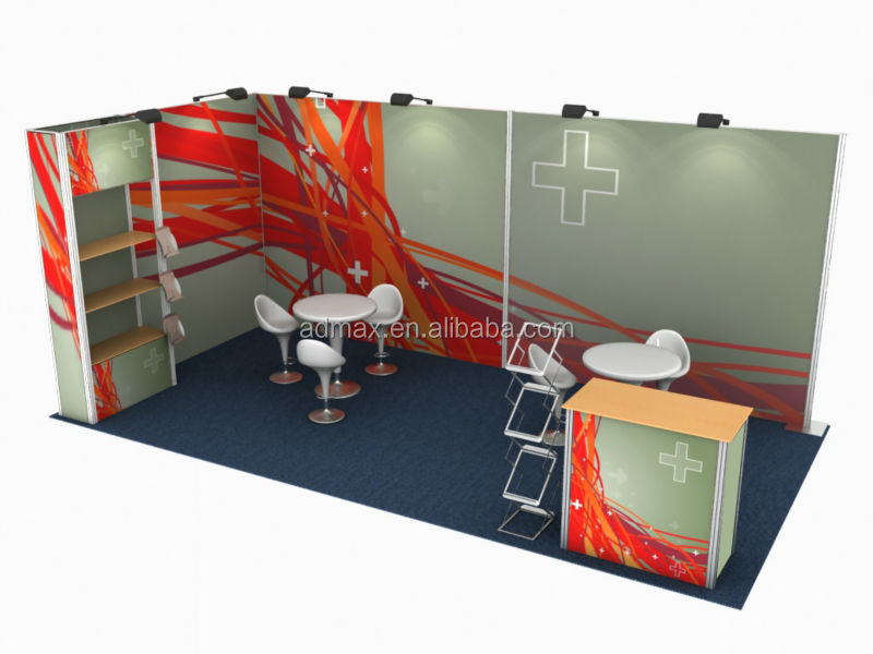 rameless booth trade show booth ,several designs for choice, item-36001 including printing service