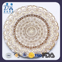 2016 new designed petal shaped glass charger plates,glass dinner plates wholesale