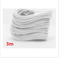 Free shipping 3M/10FT white Data Sync Charging USB adapter charger Cable 3 Meters Long charger for iphone5 5s 6 6plus
