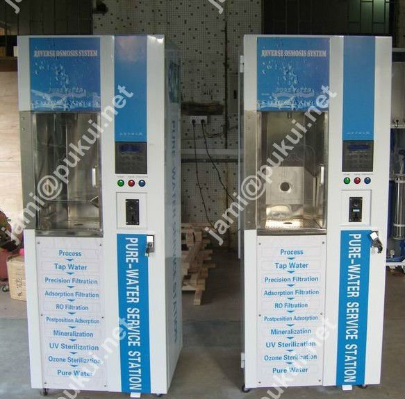 200GPD water vending machine with change function with wash bottle function with LCD screen with MDB protocol system