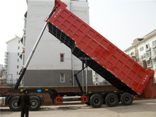 China factory price customized box size self unloading dump truck trailer