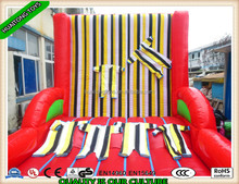 high quality and interesting inflatable sport games sticky stickup jumping wall with suit for kids and adults