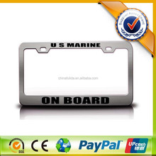 American/Euro Standard Metal Decoration Custom License Plate Frames Wholesale