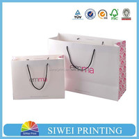 wholsale paper packaging small gift paper bag for cosmetic