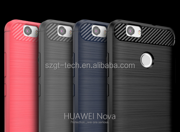 Wholesale TPU Material fiber carbon Case For Huawei Nova , For Huawei Nova Case wholesale,Phone Accessories Case