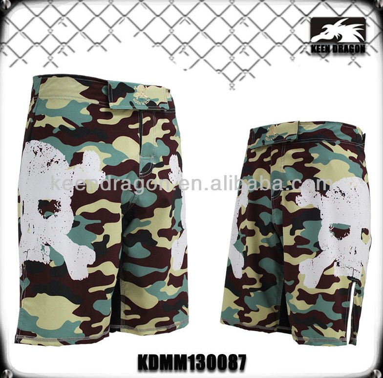 2016 sublimation camouflage fabric crossfit shorts