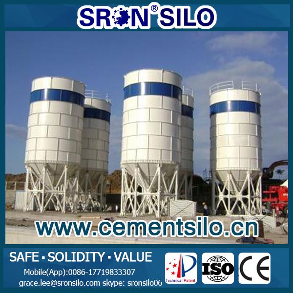 SRON Brand Customized Horizontal Cement Silo Used for Concret Batching Plant