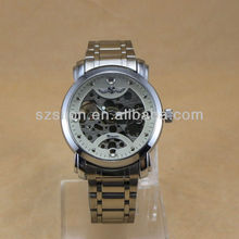 Winner Automatic Mechanical with Stailess steel strap quartz Men Watches