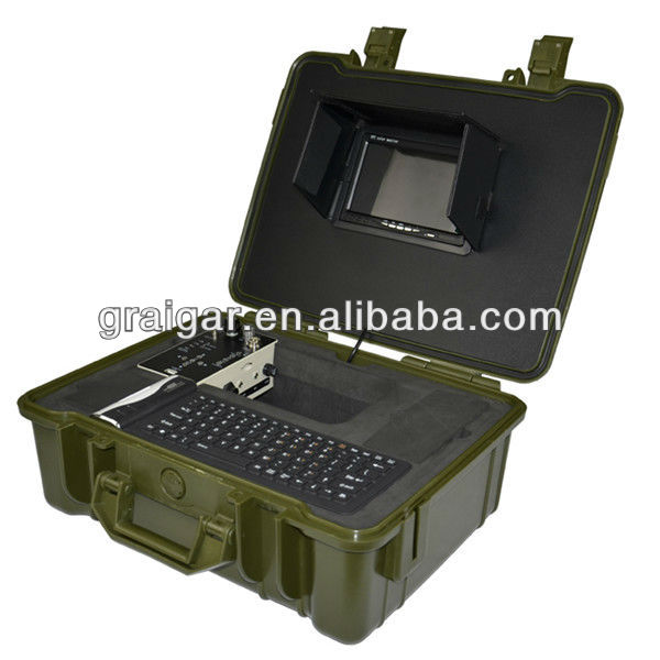 CCTV Tube Hidden Camera System 710DSK 7 inch monitor pipe inspection kit with dvr system and keyboard