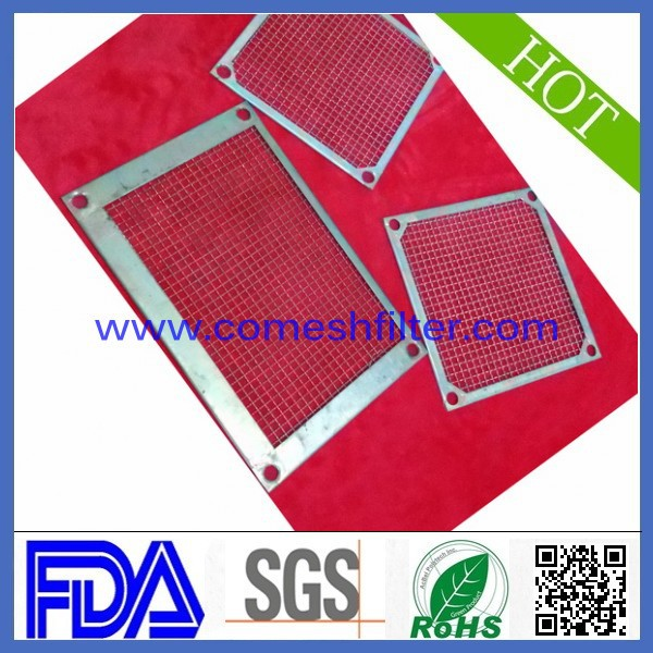 kidney shape 304 316 stainless steel wire mesh filter plate