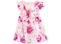 Fashion Style Flower Print Kid Child Wear Clothes Lace Design Party Girl Dress