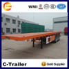 shipping container 20ft 3 axles 40ft new used tri axle flatbed deck trailer