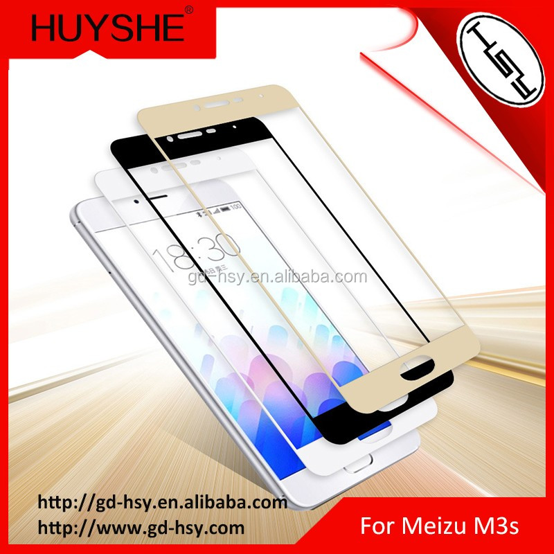 Factory Supply Tempered Glass Protector for Miezu M3s Full Cover Silk Print Color Glass Screen Guard