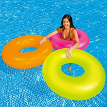 Hot Sale Neon light Swim Ring Floater / Inflatable PVC Swimming rings for Adults