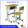 2016 School furniture metal design study table desk and chair for kids