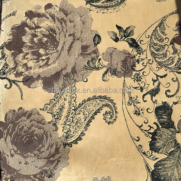 flower type bronzing velvet sofa fabric