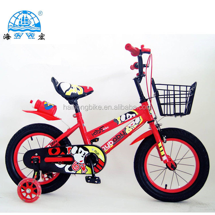 2018 India cheapest new model child cycle / price used kids push bike with back rest / four wheels baby cycling for sale