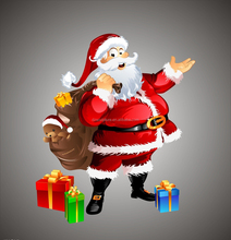 Christmas decorations santa clous for store gifts